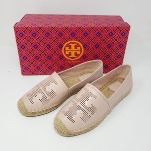 Brand New Tory Burch Leather Espadrille Shoes
